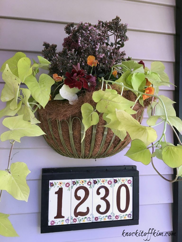 hanging planter for fall