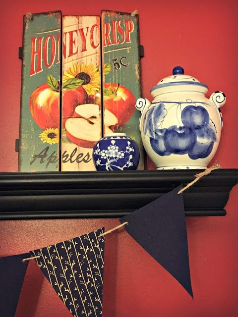 fall decorating with apples