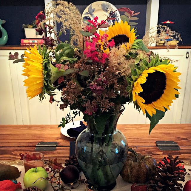 fall home decor flower centerpiece