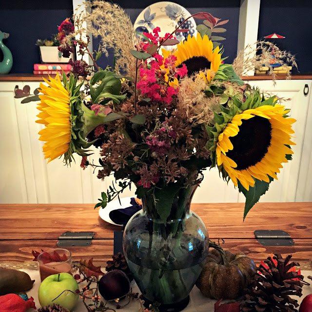 fall home decor flower centerpiece
