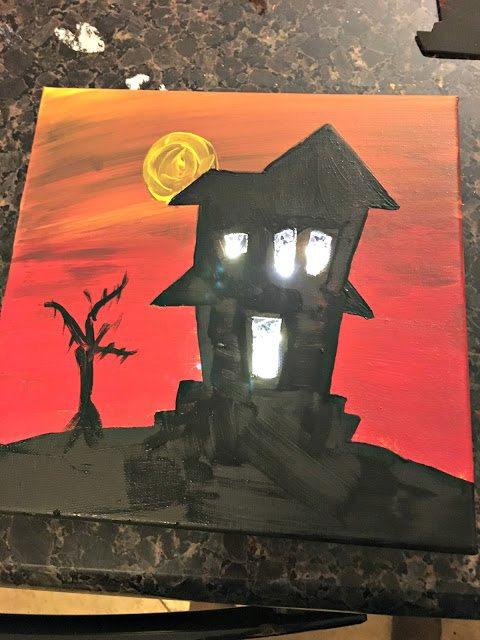 lit canvas - HalloweenCanvasArtwork
