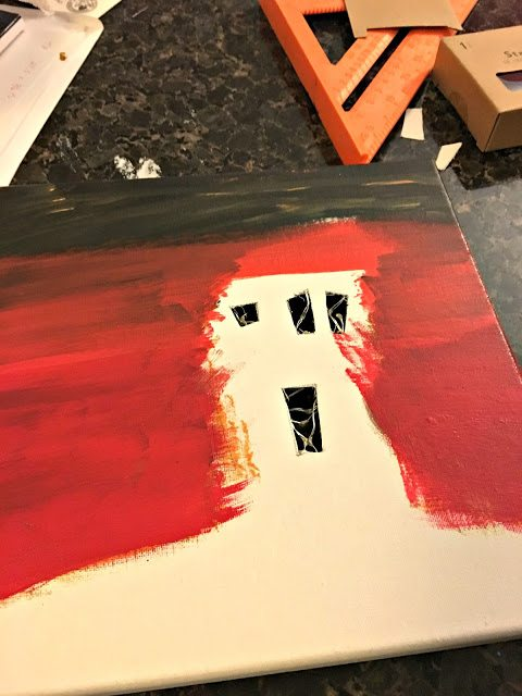 lit canvas - LightedHalloweenCanvasPictures