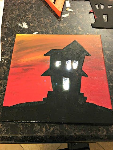 lit canvas - LightedHalloweenCanvasPrints