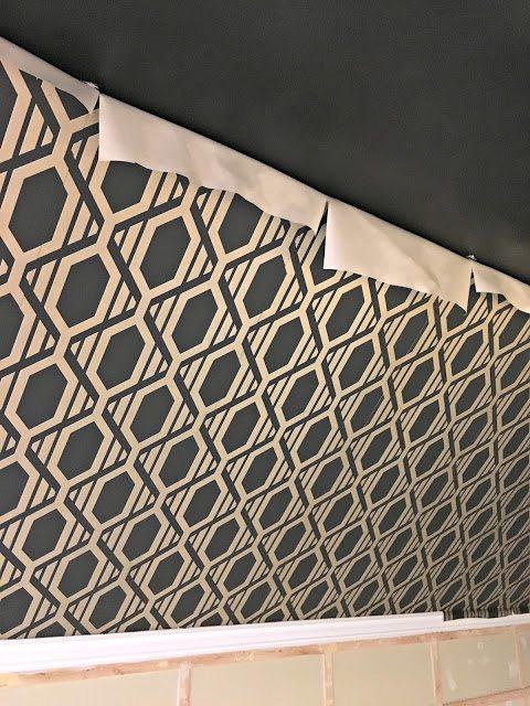 new wallpaper - hanging wallpaper