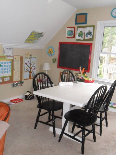 game room makeover - before classroom