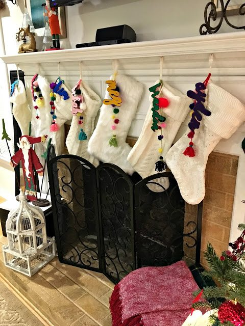 holiday ready - stockings by mantel