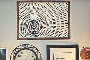 DIY Rustic Starburst Wall Art