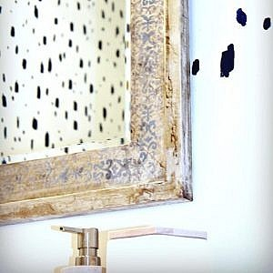 How to Make a DIY Faux Silver Mirror