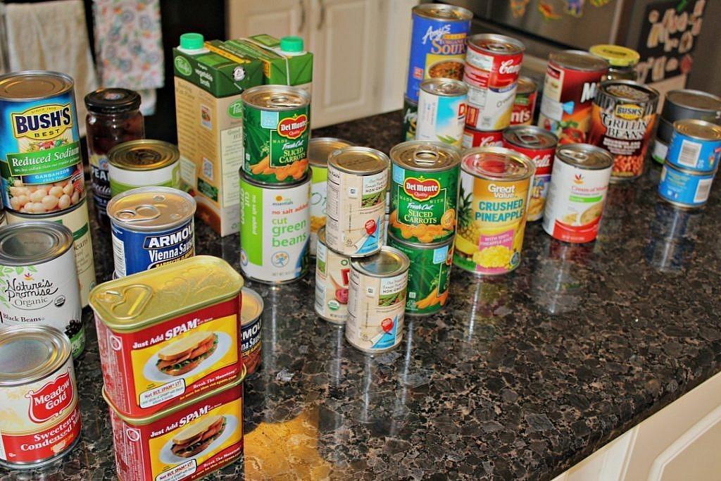 kitchen pantry organization - sort and purge