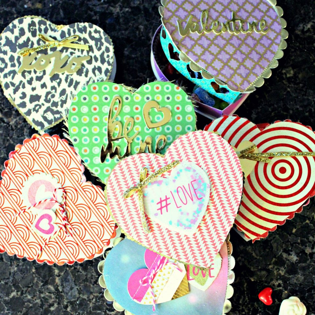 DIY Valentine Candy Heart Boxes -square