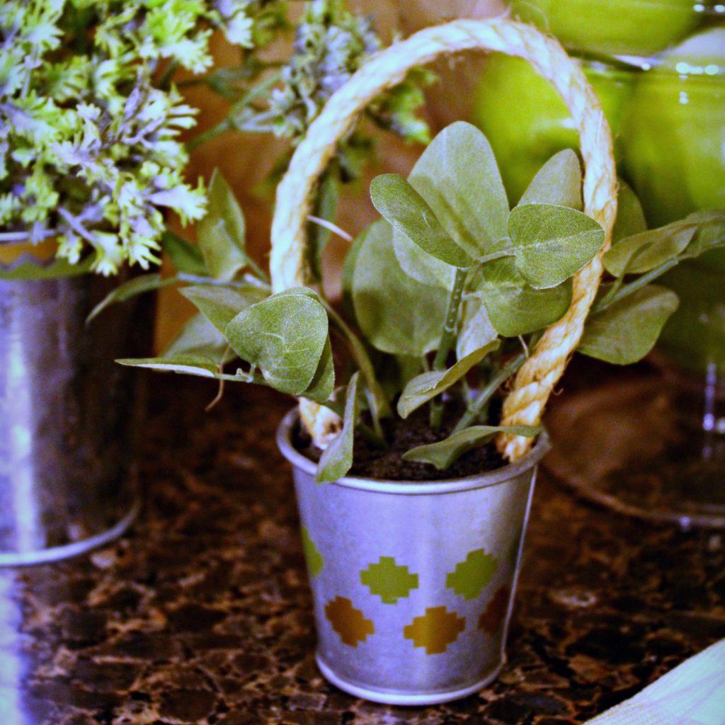 Embellished Faux Herb pots