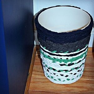 No-Sew Fabric Rope Basket