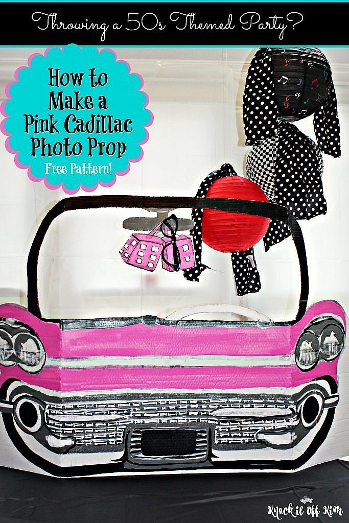 Party Decorations: How to make 50s Pink Cadillac Photo Prop