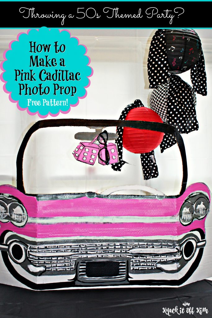 Party Decorations How To Make 50s Pink Cadillac Photo Prop