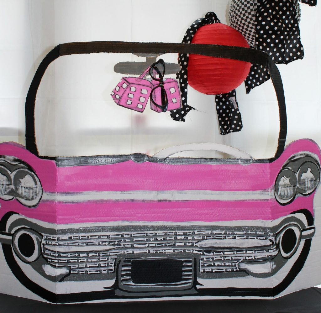 Party Decorations: How to make 50s Pink Cadillac Photo Prop - customize your car