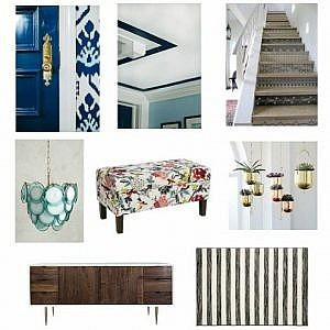 How to Plan a Quick and Inexpensive Foyer Makeover - Spring One Room Challenge Week 1