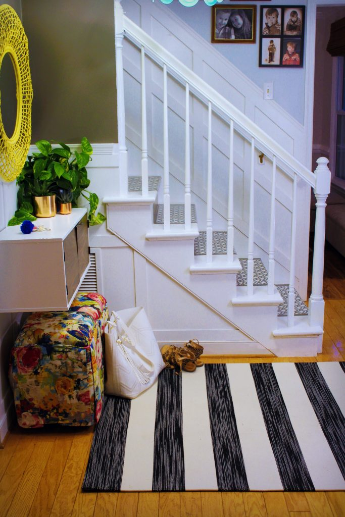 Colorful Views of a Fun Functional Foyer {Room by Room Summer Showcase - Week One}