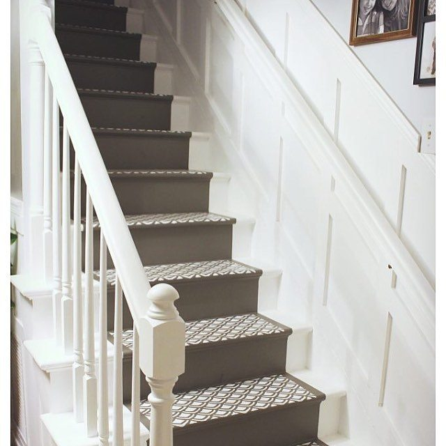 This staircase was a labor of love!  diy diypaintinghellip