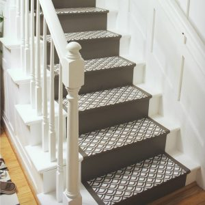 Painting Stairs: How to paint stairs with a faux runner