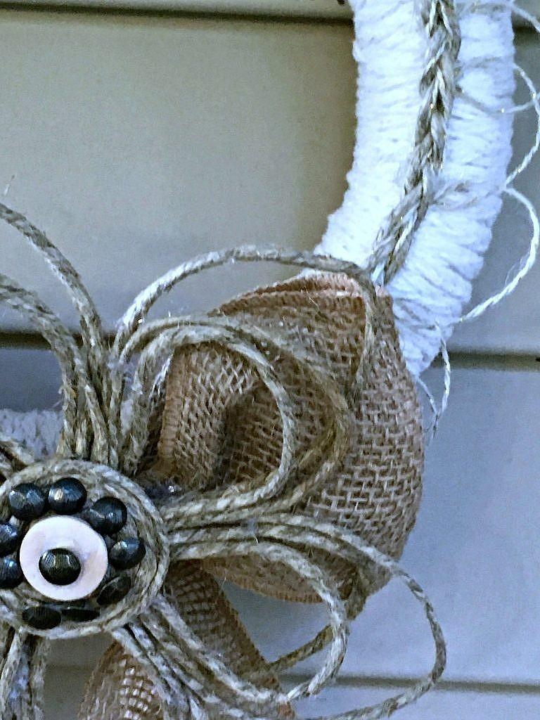 door wreaths - rope flowers