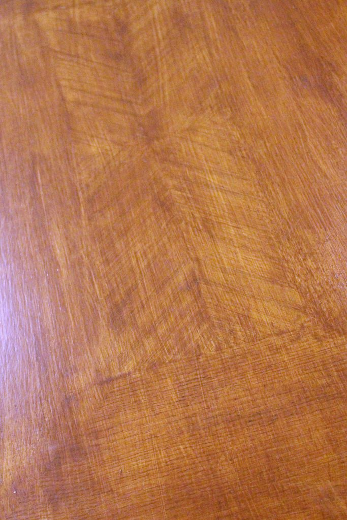 How to makeover your living room over time - herringbone inset on coffee table