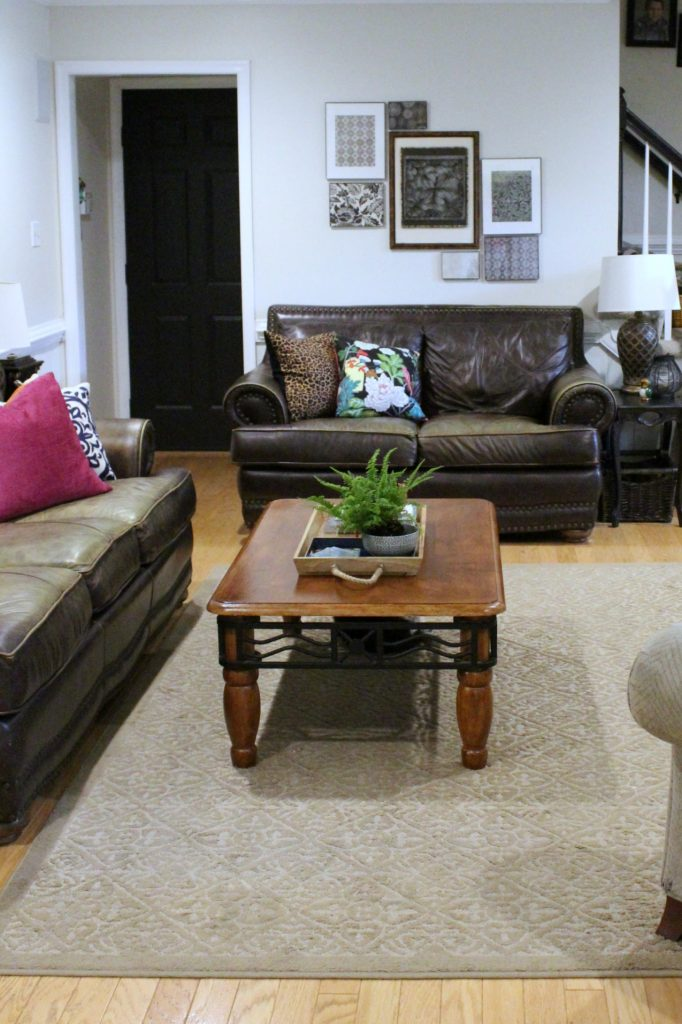 How to makeover your living room over time - scrap paper collage