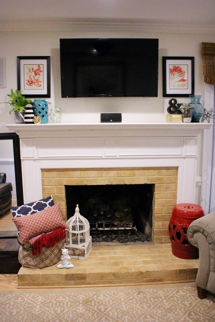 How to makeover your living room over time - fireplace makeover