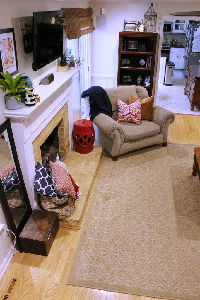 How to makeover your living room over time - left side of room
