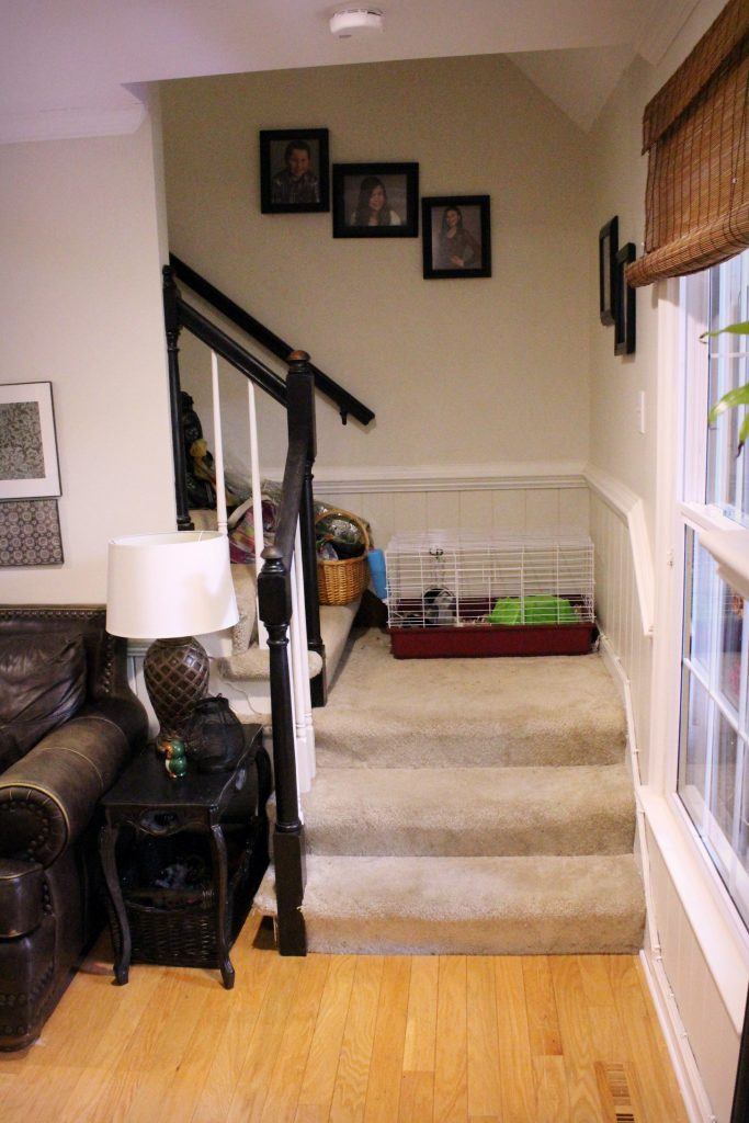 How to makeover your living room over time - staircase