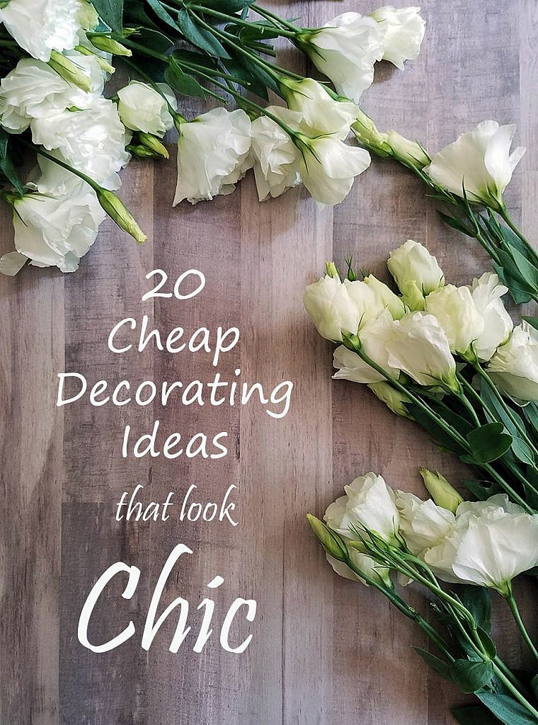 cheap decorating ideas