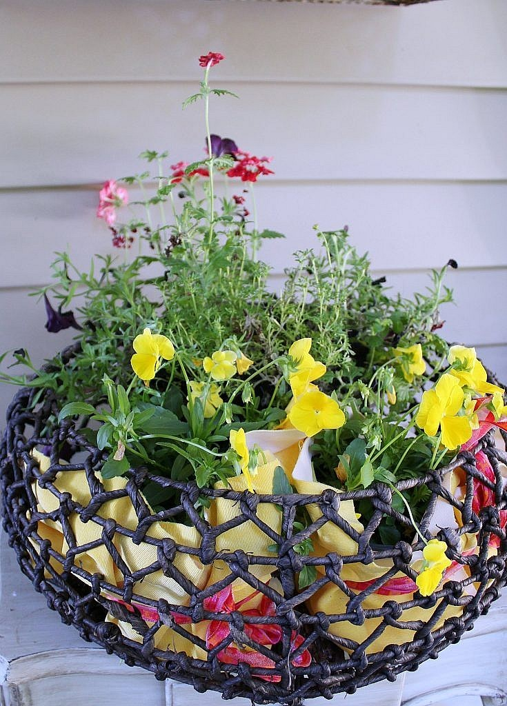 Front Door Porch Fall 2017 - Pansy Basket