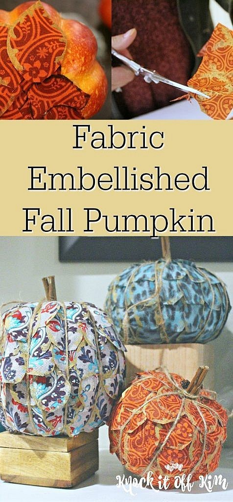 faux pumpkin craft pin