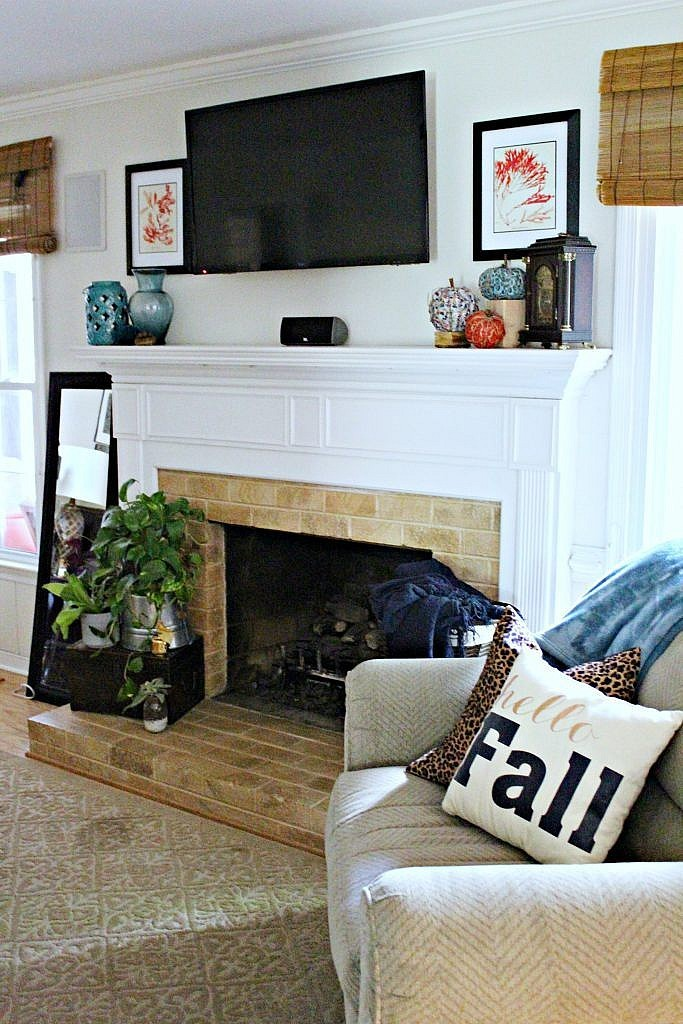 How To Decorate A Fireplace Mantel For Fall Fireplace