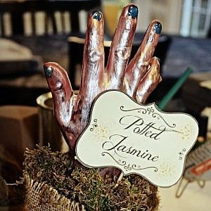 The Potted Ladies {Potted Hand Halloween Prop}