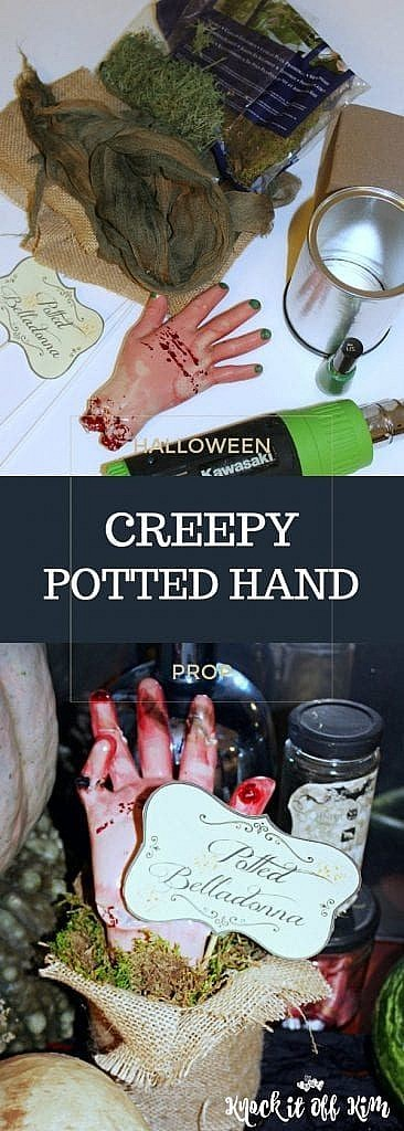 Halloween Prop - creepy potted hand