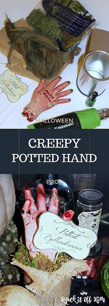 Halloween Prop - creepy potted hand