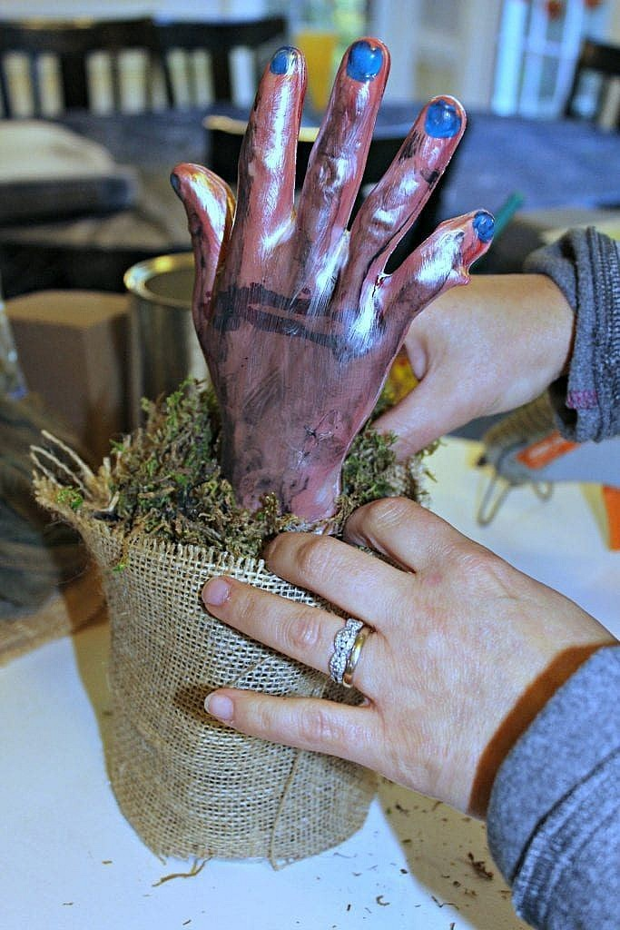 Hand Prop - Halloween Prop - add moss