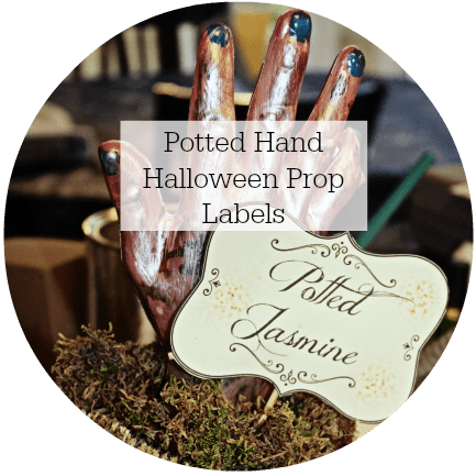 halloween prop labels