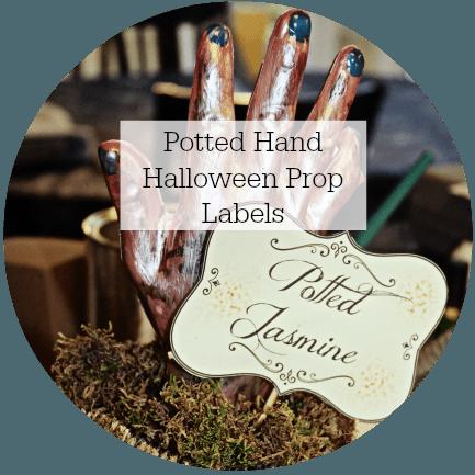 halloween prop labels