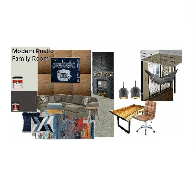 Feature-Rustic Modern Family Room