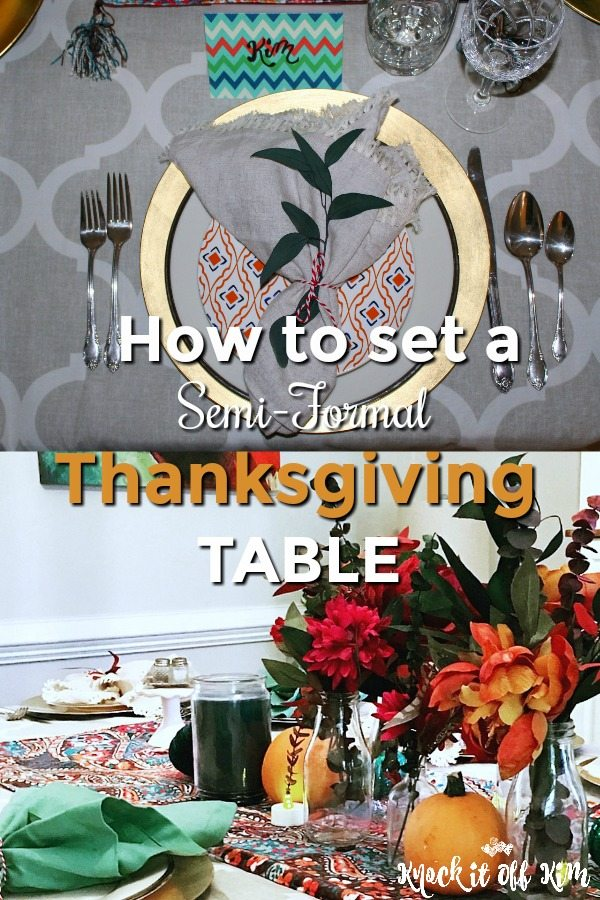 How to Set a Semi Formal Thanksgiving Table