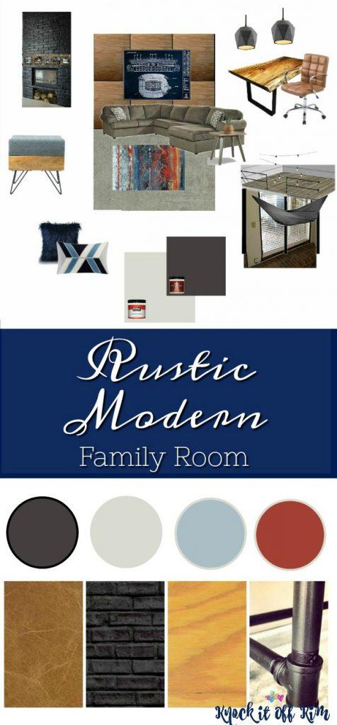 Rustic Modern Rec Room