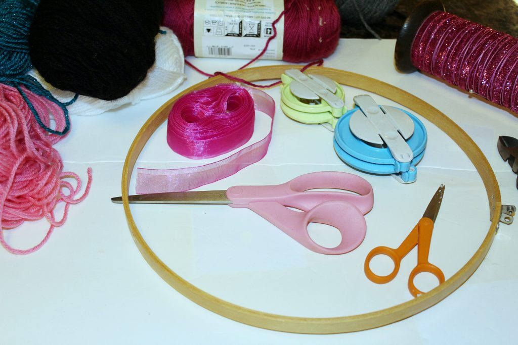 hoop wreath - materials