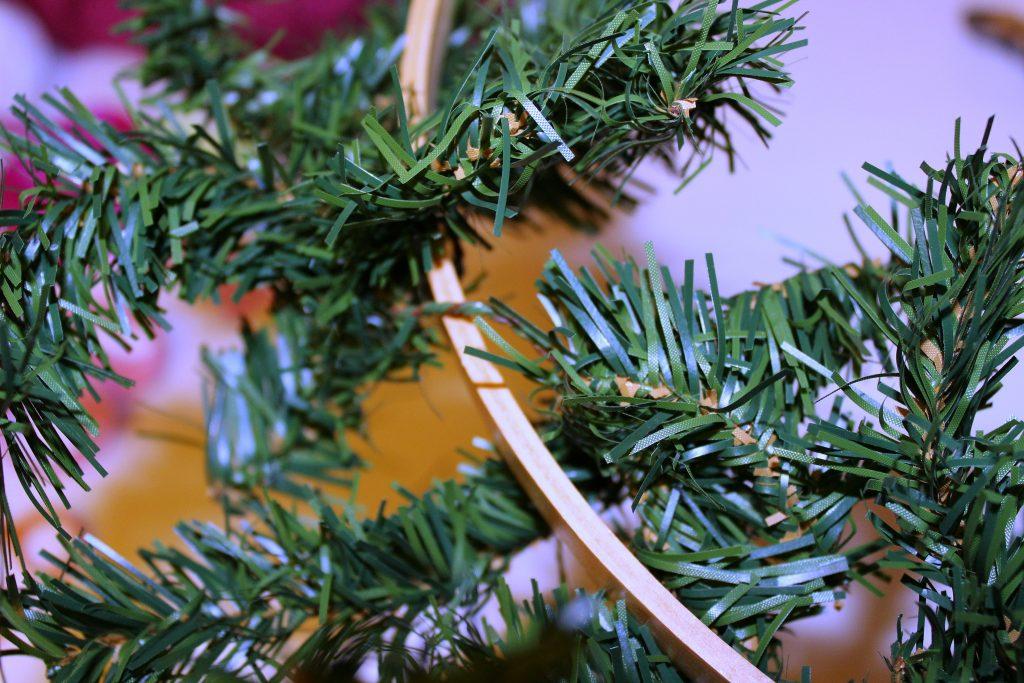 hoop wreath - wrap greenery