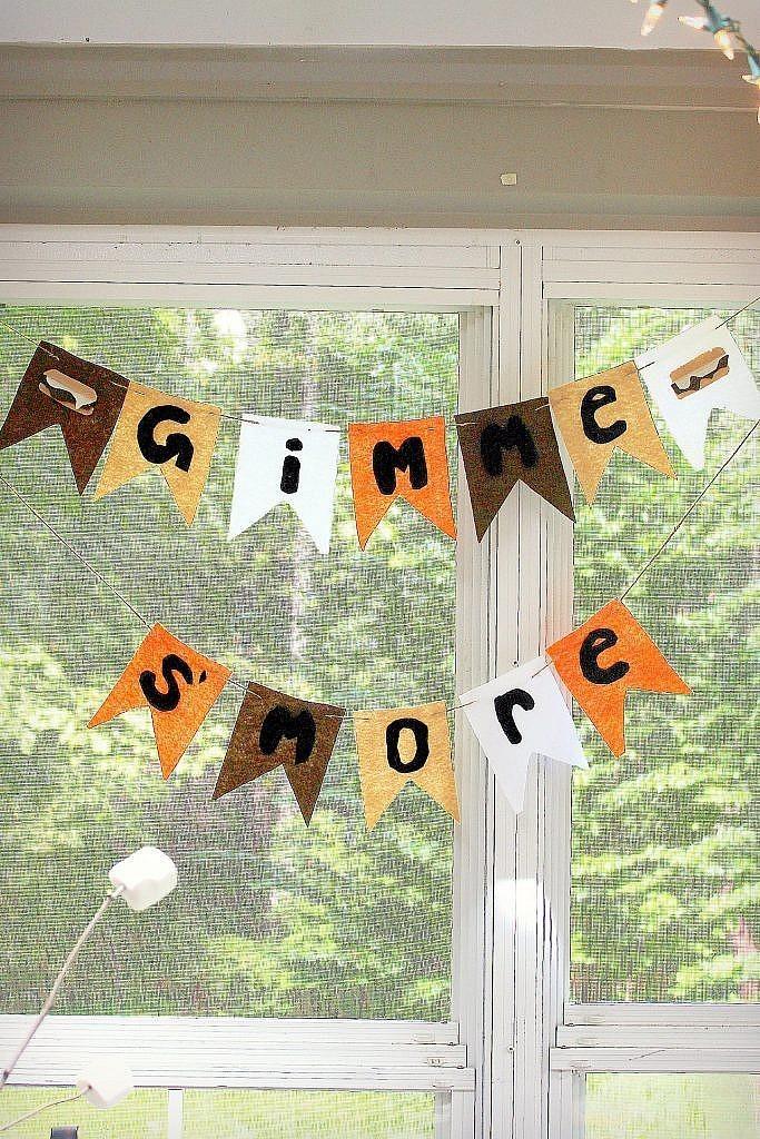 indoor smores banner