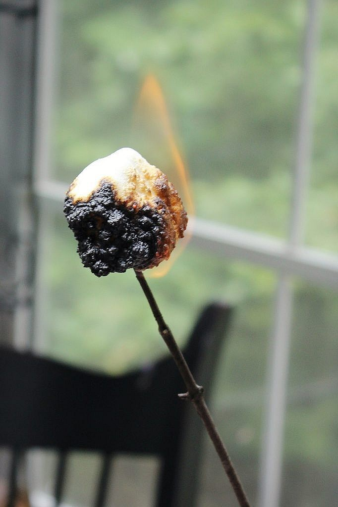 indoor smores - roasted marshmallow