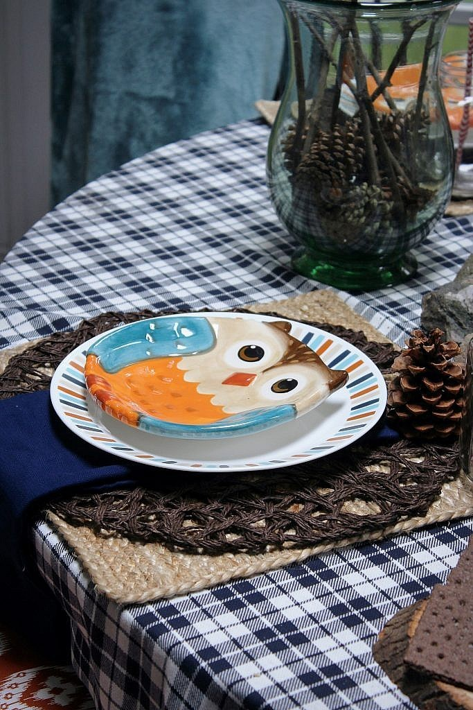 indoor smores roasted - owl plate