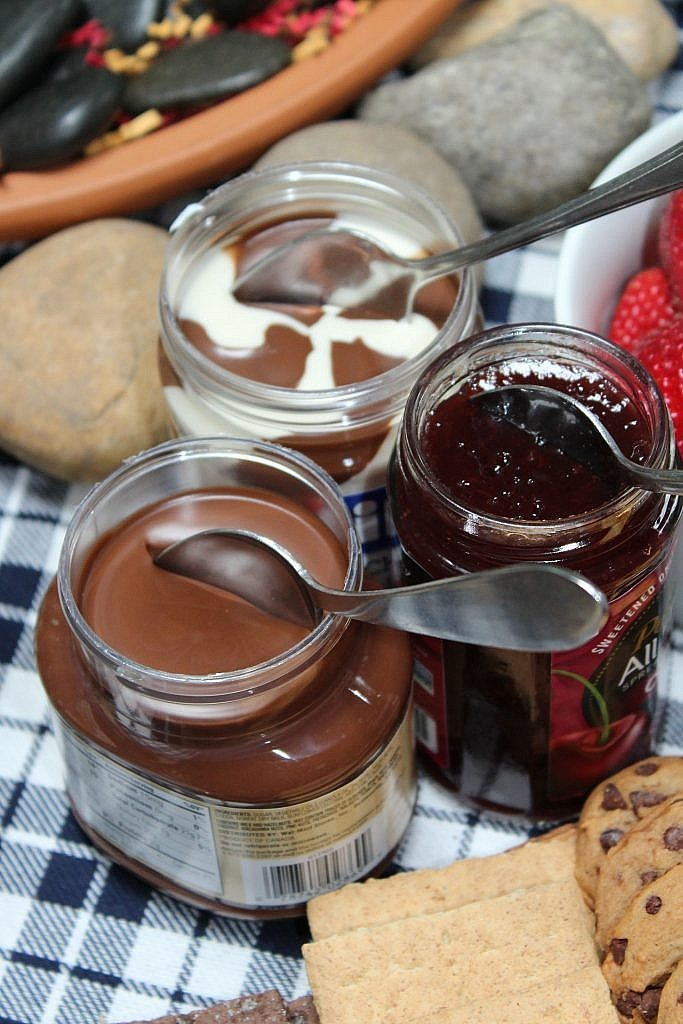 indoor smores roasted - spreads