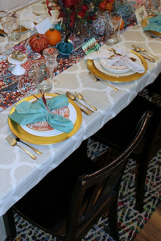 thanksgiving table-eclectic plates
