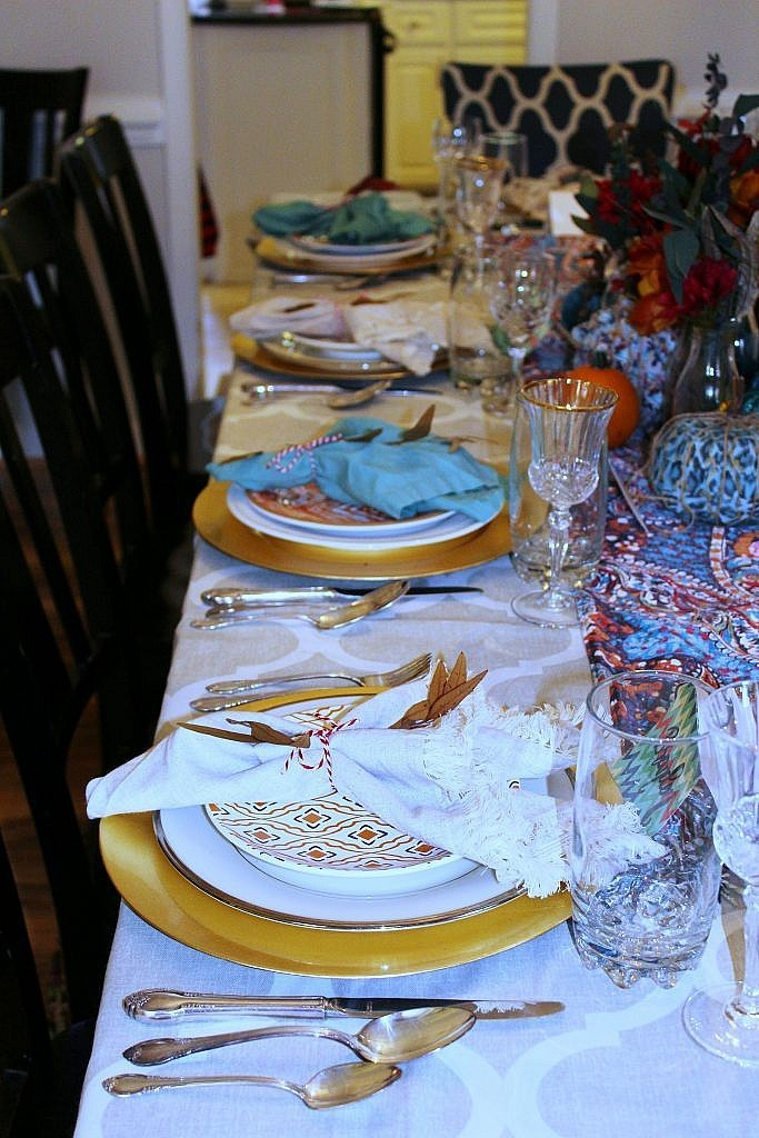 thanksgiving table -left side